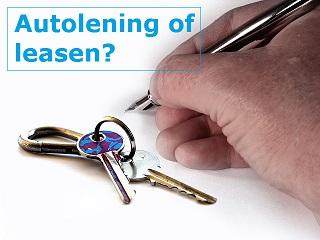 lenen of auto leasen?