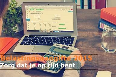 Belastingaangifte aanslagjaar 2015