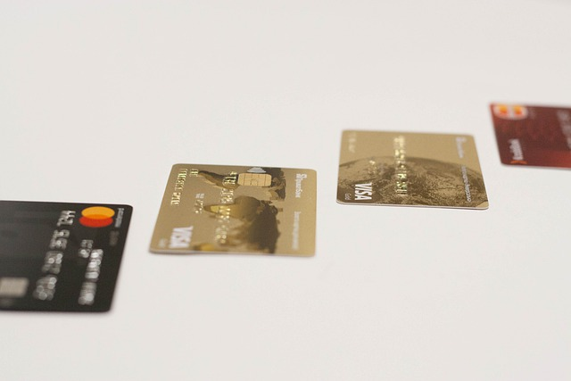 Verschillende type kredietkaarten